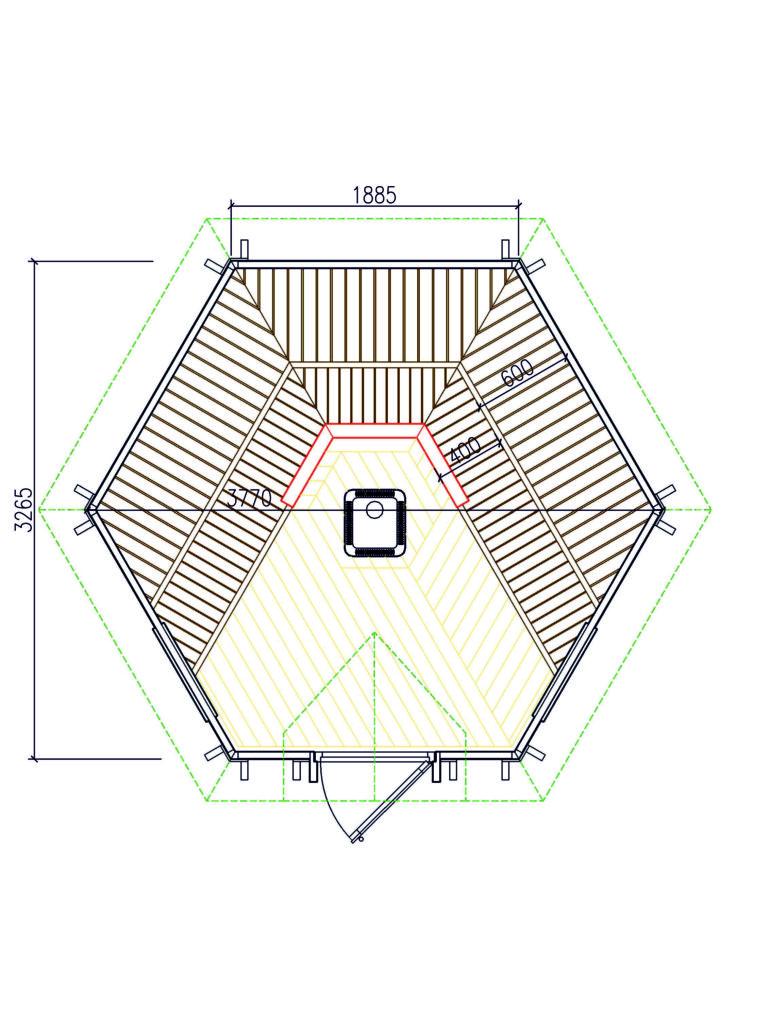 Saunakota 9,2m²