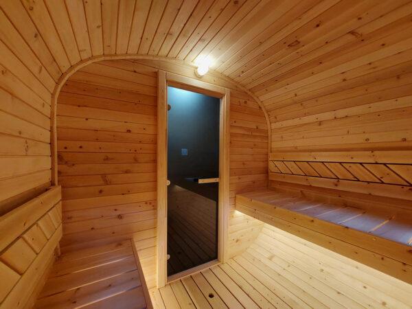 Quadro-Sauna, Fasssauna, Zedernholz